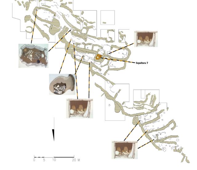 Penalosa Figura-2-Ubicacion-de-las-sepulturas-en-el-interior-del-poblado-de-Penalosa