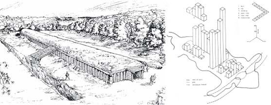 Fussells Lodge merge (reconstrucción y figura Shanks y Tilley)