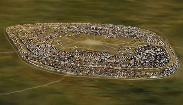 Reconstrucción del asentamiento Cucuteni-Trypillia de Talianki